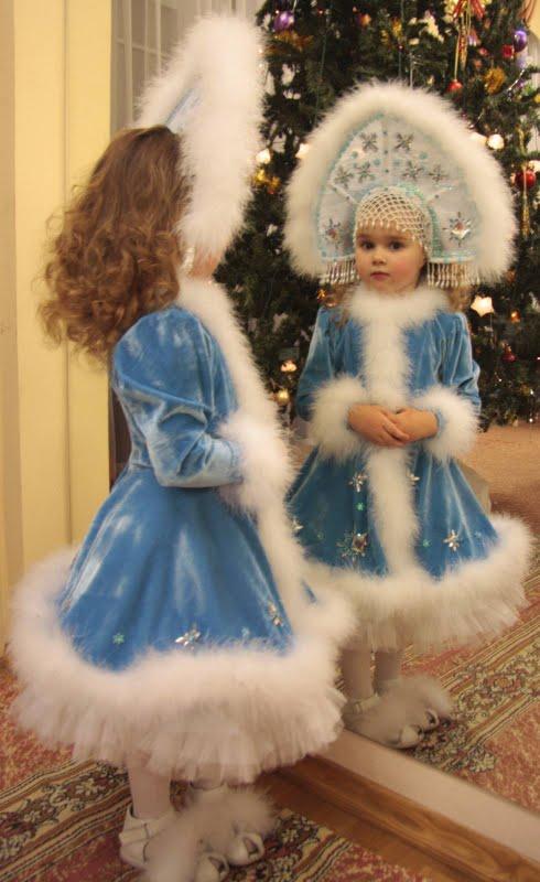 Новогодние костюмы снегурочка своими руками