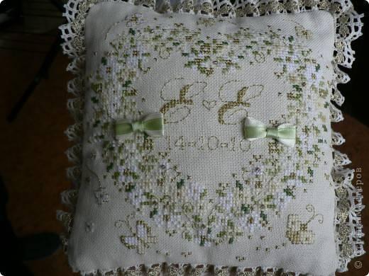 вышивка подушечка для колец схема