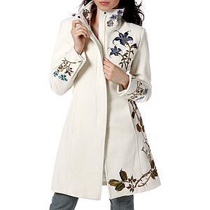 Как украсить вышивкой пальто