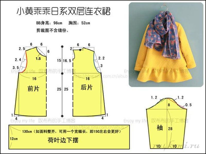 Сшить платье для девочки своими руками выкройки с фото