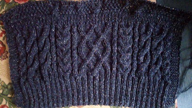 Туника Dark Green Design Crochet Plaid Half - араны спицами