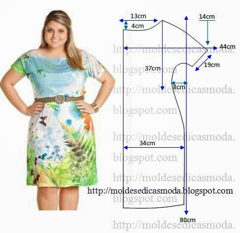 Выкройки одежды на полных женщин