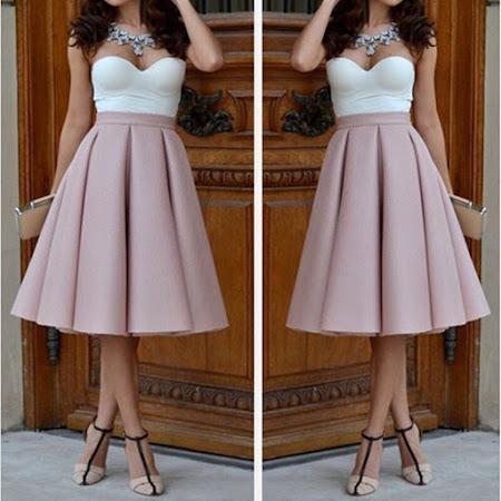 Модные юбки ниже колена