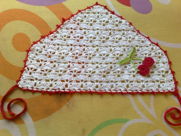 crochet triangle headband