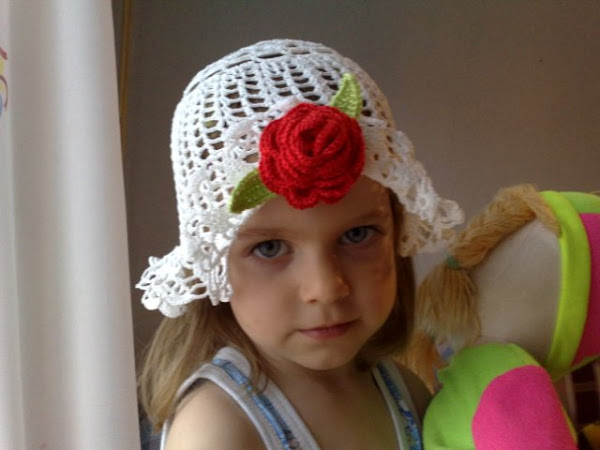 crochet spring hat for little girls