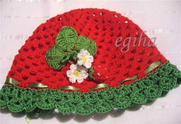 Strawberry Leaf Knitting Pattern : crochet so cute cabled hats and berets for women make ...