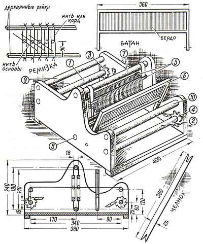 Ручное ткачество Как сделать ткацкий станок своими руками? Ищем фото и видео по теме Идеи для семьи Рукоделие: вышивание, вязани