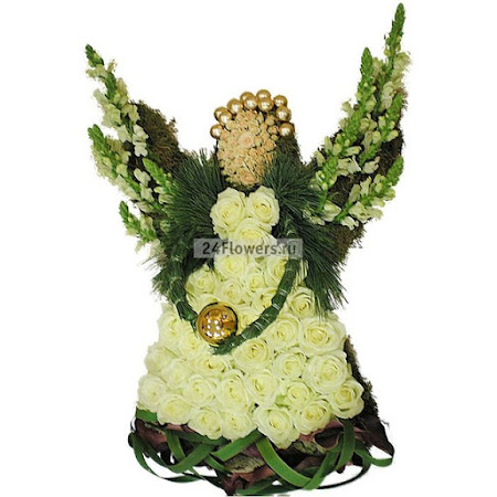 Ангел из цветов своими руками