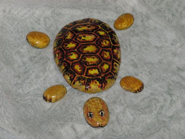 Черепаха из камней своими руками