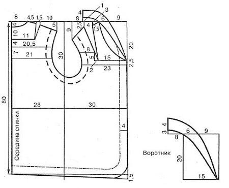 меховой жилет выкройка 48 размер