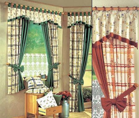 Сшить шторы своими руками из ткани разных цветов