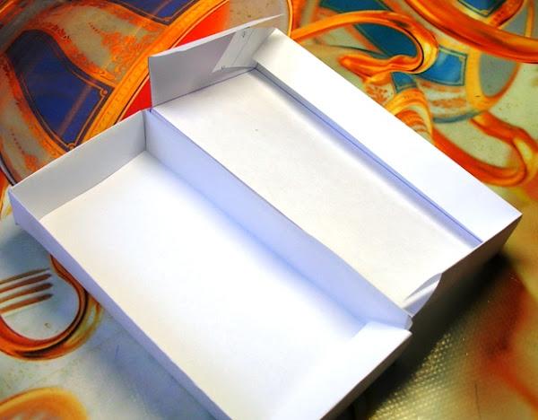Как сделать длинную коробку из бумаги с крышкой