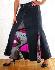 Как из юбки-брюки сделать юбку