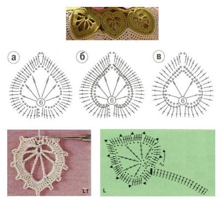 Листья крючком и схемы