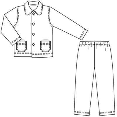 Бурда выкройки детских пижаме