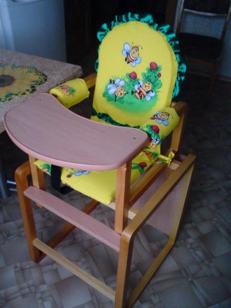 Сиденье для стульчика для кормления своими руками
