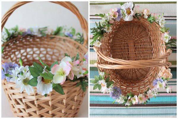 Как сделать корзинку под цветы своими руками