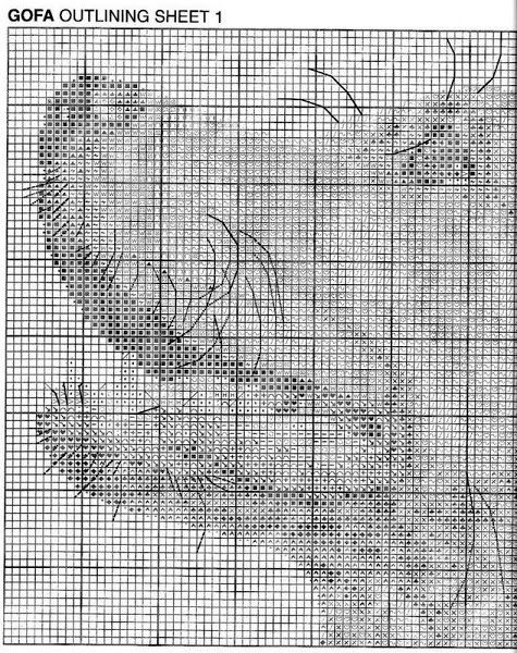 Golden kite схема вышивки