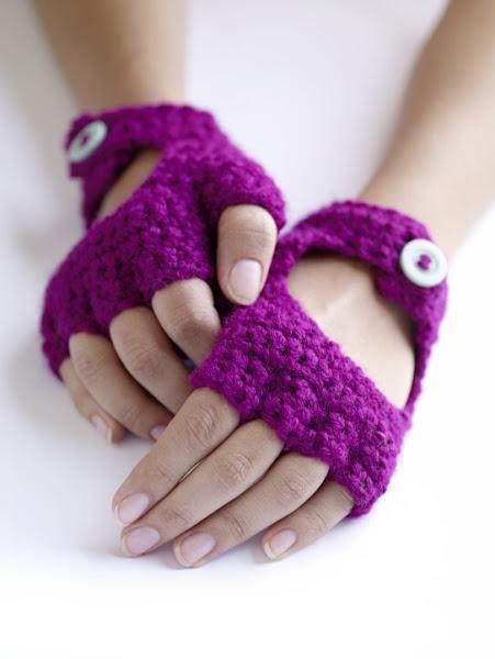 перчатки без пальцев - митенки