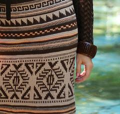 Крючок тунисское вязание юбки