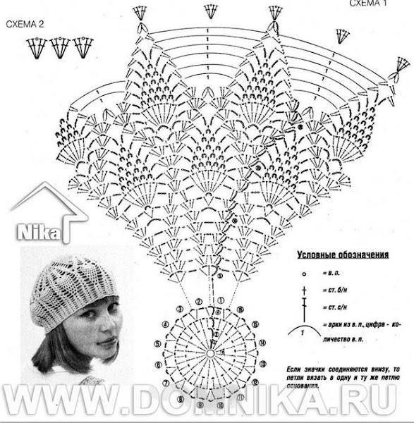 Семы вязания шапки и шарфа спицами . . . Шарф и берет связаны на спица 2