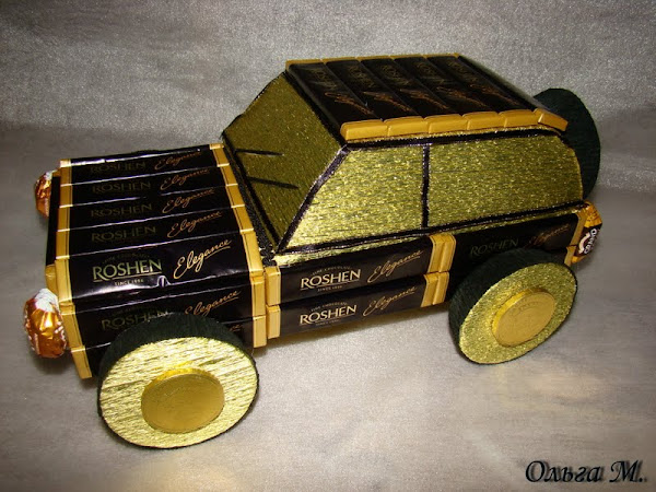 Машина из конфет мастер