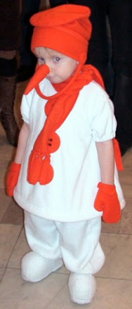 Снеговик своими руками костюм для мальчика