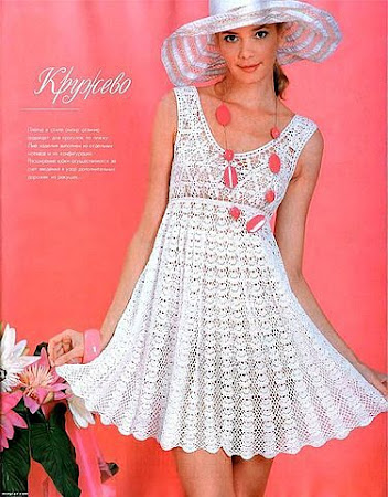 Вязанные платья крючком для девушек