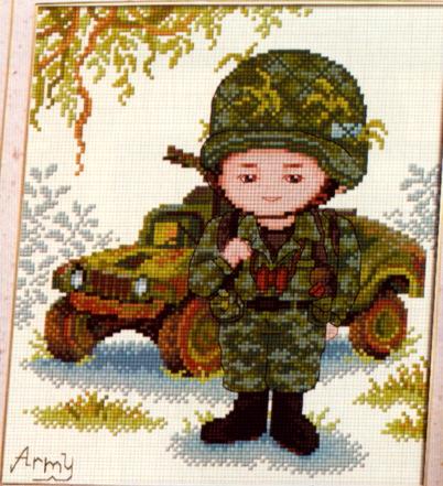 Вышивка военной тематики крестом