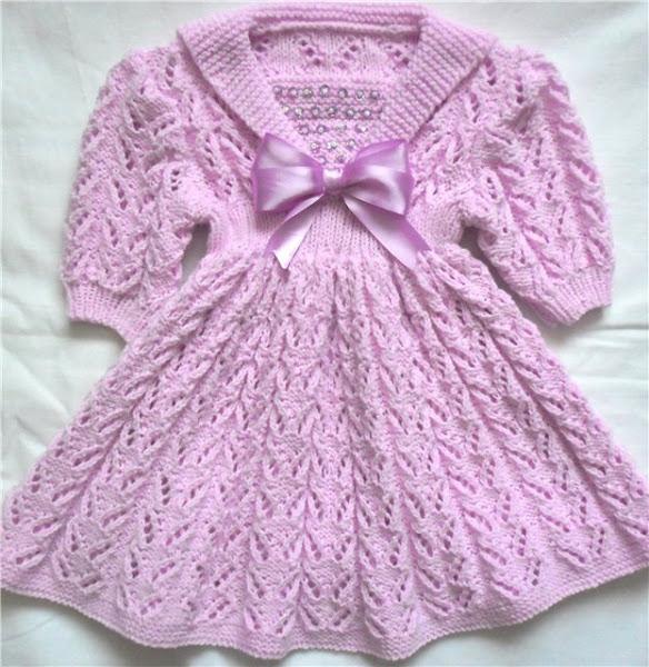 Вязание спицами платья детям схемы