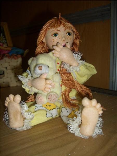 Кукла из соленого теста своими руками фото