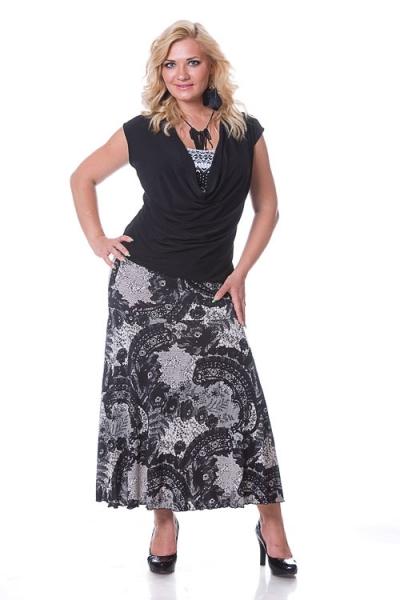 Прекрасная юбка модного кроя