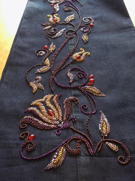 Вышивка на джинсах схемы бисером