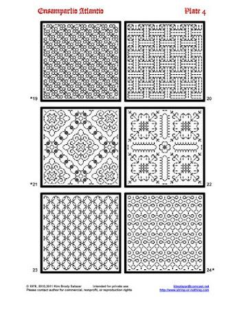 Блэкворк - коллекция схем