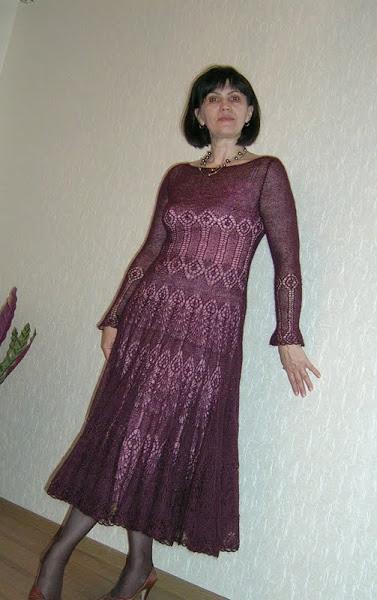 Платья спицами от Almas с