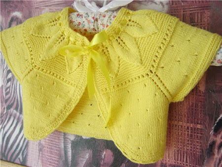 Sarı bebek bolerosu