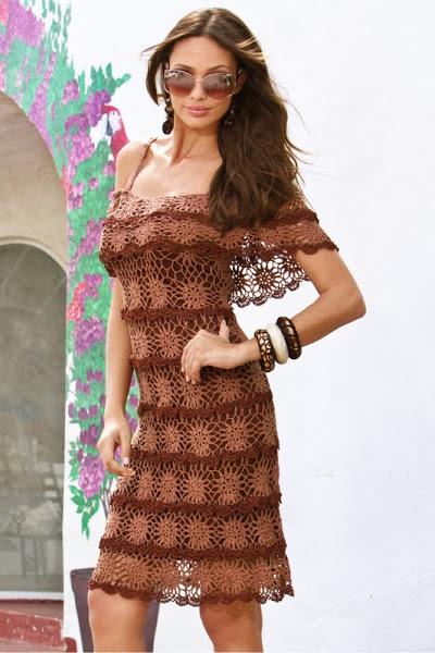 платье крючком с Осинки.