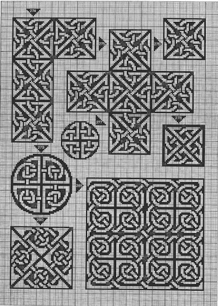 Кельтские узоры схемы для вышивки