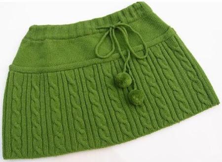 Вязание спицами юбки модели