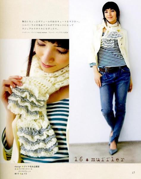 easy and beauty crochet ruffle scarf