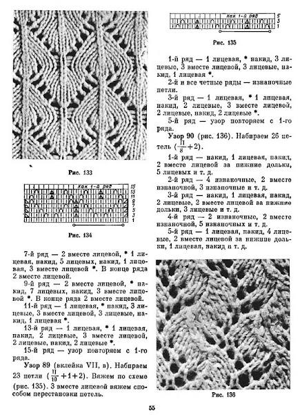 Вязание спицами узоров ирис