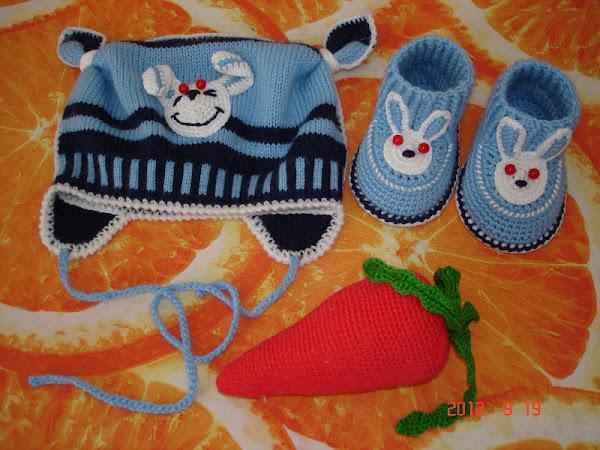 Tavşanlı şapka ve patik örneği