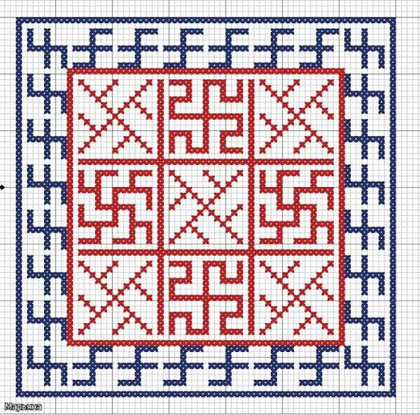 вышивке крестом - вышивка