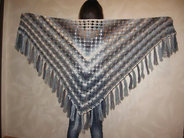 Осинка вязание шаль