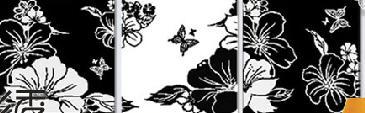 Триптихи вышивка на черном