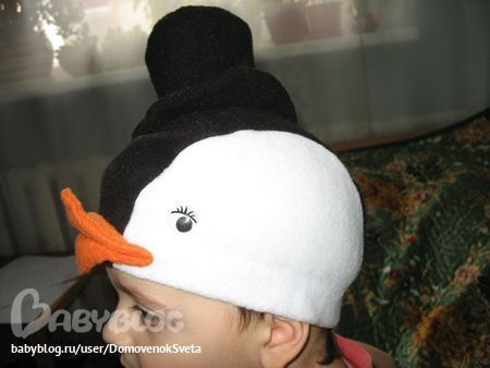 Шапочка пингвина своими руками на новый год