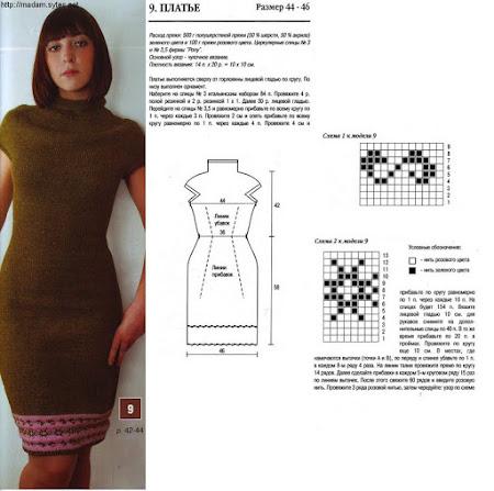 Как связать платье в круговую