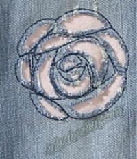 Рваные розы из джинсы