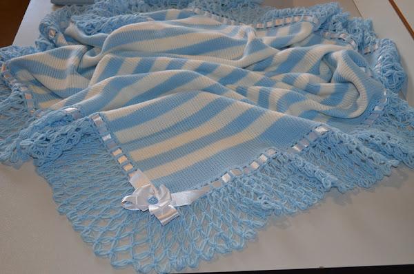 Mavi beyaz battaniye