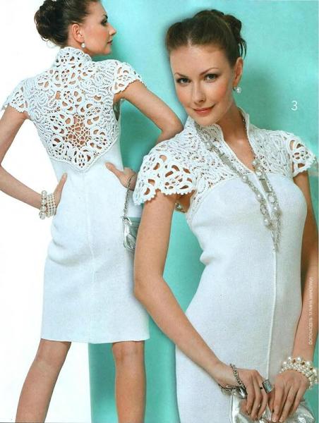 Фото платья комбинированные с кружевом